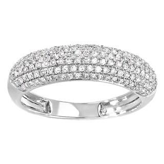 Women's 10-karat Gold 0.5-carat Round-cut Diamond Anniversary Wedding Band