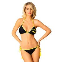 Women's Batman Black Lycra Triangle Bikini