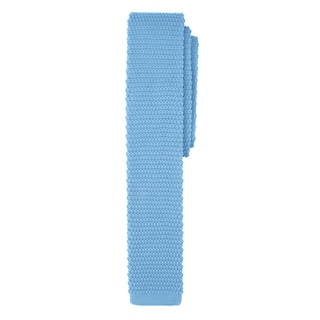 Jacob Alexander Boys' Blue Microfiber Knit Tie