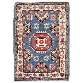 Herat Oriental Afghan Hand-knotted Kazak Wool Rug (2' x 2'10)