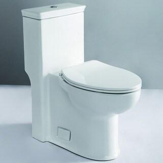 EAGO TB377 White Porcelain ADA-compliant One-piece Single-flush Toilet