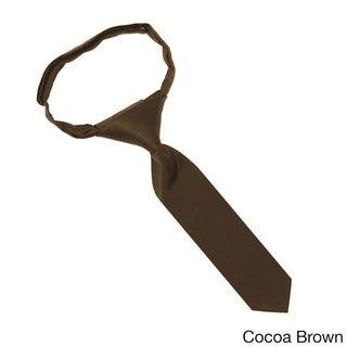 Jacob Alexander Infants' Solid Color Microfiber/Velcro 8-inch Pretied Tie