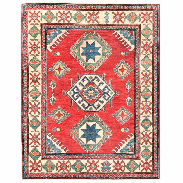 Handmade Herat Oriental Afghan Kazak Wool Runner - 4'9 x 5'10 (Afghanistan)