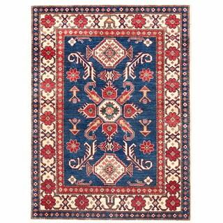Handmade Herat Oriental Afghan Kazak Wool Rug (Afghanistan) - 4'3 x 6'3
