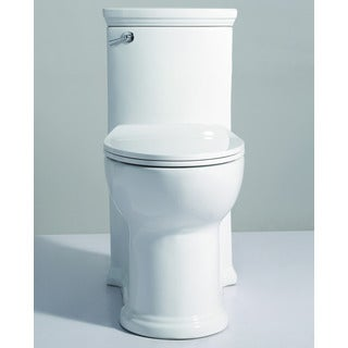 Eago TB364 White Porcelain ADA-compliant One-piece Single-flush Toilet