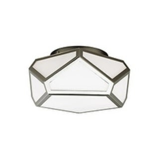 Feiss Diamond 2 Light Polished Nickel Flushmount