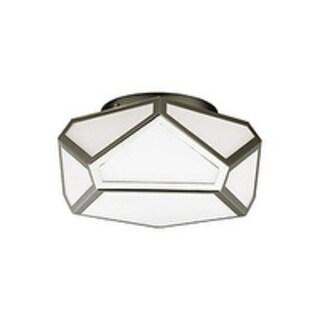 Feiss Diamond 2 - Light Flush, Polished Nickel