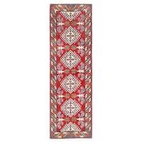 Herat Oriental Afghan Hand-knotted Kazak Wool Runner - 1'11 x 6'4