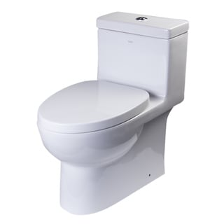 EAGO TB359 White Porcelain Dual Flush One Piece Eco-friendly High Efficiency Low Flush Toilet