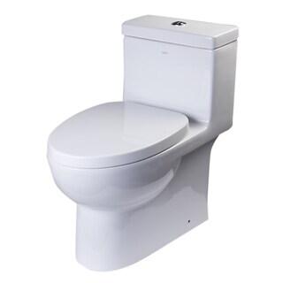 EAGO TB359 White Porcelain Dual Flush One Piece Eco-friendly High Efficiency Low Flush Toilet