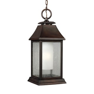 Feiss 1 - Light Outdoor Pendant, Heritage Copper