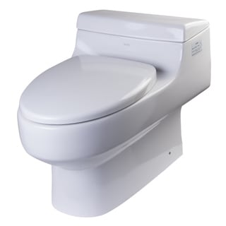 EAGO TB352 White Porcelain One Piece Ultra Low Single Flush Toilet