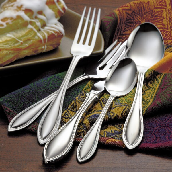 Oneida American Harmony 65-piece Flatware Set with Bamboo Storage Caddy (Service for 12). Opens flyout.