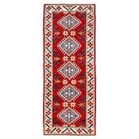 Herat Oriental Afghan Hand-knotted Kazak Wool Rug (2'4 x 5'9)