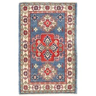 Herat Oriental Afghan Hand-knotted Kazak Wool Rug (2' x 3'2)