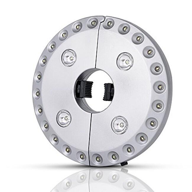 International Silvertone Plastic 28-LED 3-level Dimming P...