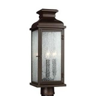 Feiss 3 - Light Outdoor Post, Dark Aged Copper