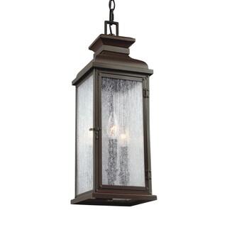Feiss 3 - Light Outdoor Pendant, Dark Aged Copper