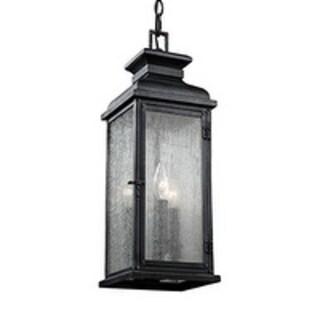 Feiss 3 - Light Outdoor Pendant, Dark Weathered Zinc