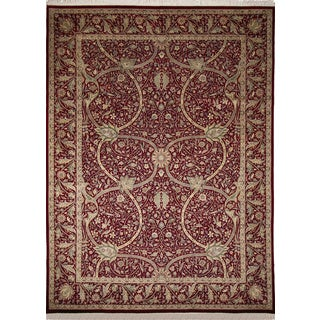 Pak-Persian Marshal Red Hand-Knotted Rug (10'1 x 13'5)