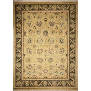 Pak-Persian Lilyanna Gold Hand-Knotted Rug (10'0 x 13'9)