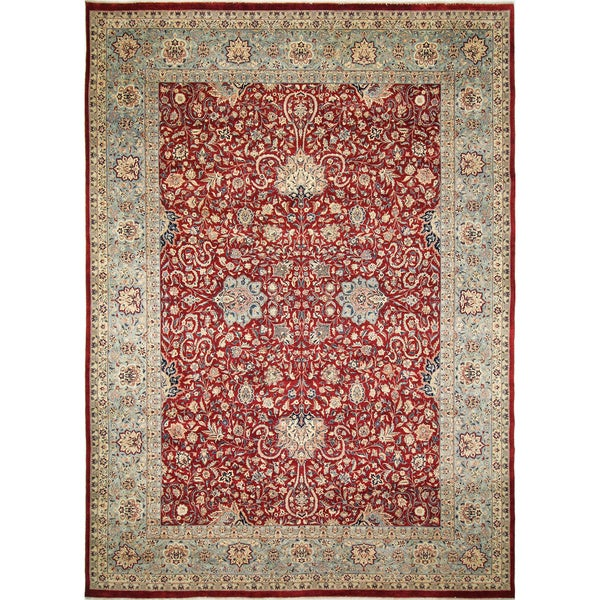 Pak-Persian Harper Red Hand-Knotted Rug (10'1 x 13'6)