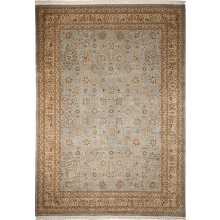 Turkish-knotted Kenyon Light Blue Hand-knotted Rug (8'1 x 14'3)