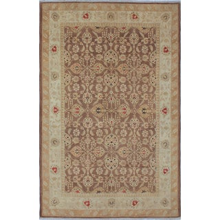 Pak-Persian Earl Chocolate Hand-Knotted Rug (6'2 x 9'5)