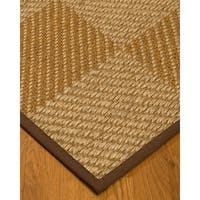 Handcrafted Nirvana Natural Sisal Runner Rug with Dark Brown Binding - 2'6 x 8'