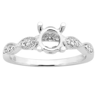 Ladies' 14-karat Gold 1/6-carat TDW I-J, I2-I3 Round-cut White Diamond Semi-mount No Center Stone Engagement Ring