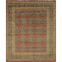 Peshawar Hadlee Red Hand-Knotted Rug (8'0 x 9'10)