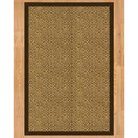 Handcrafted Parson Natural Sisal Runner Rug with Dark Brown Binding (2'6 x 8')
