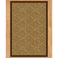 Handcrafted Seattle Natural Sisal Runner Rug with Brown Binding - 2'6 x 8'