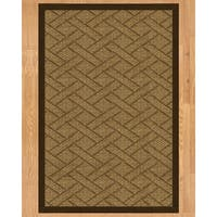 Handcrafted Shanghai Natural Sisal Runner Rug with Dark Brown Binding