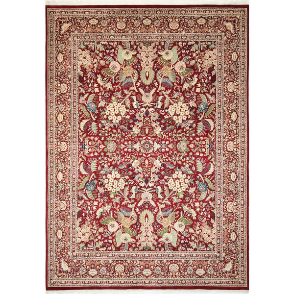 Pak-Persian Marley Red Hand-Knotted Rug (9'0 x 12'5)