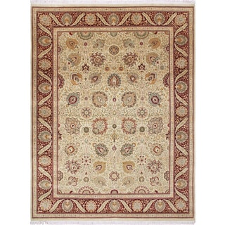 Pak-Persian Shelley Gold Hand-Knotted Rug (9'1 x 11'11)