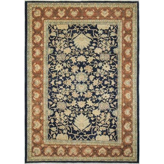 Peshawar Hayes Blue Hand-Knotted Rug (9'1 x 12'4)