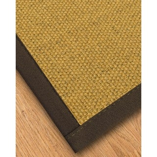 Handcrafted Prescott Natural Sisal Runner Rug with Dark Brown Binding (2'6 x 8')