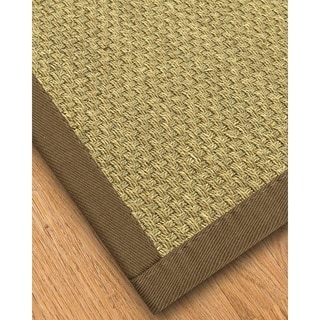 Handcrafted Marina Natural Seagrass Runner Rug with Taupe Binding (2'6 x 8')