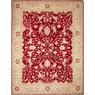 Peshawar Bentley Red Hand-Knotted Rug (9'2 x 11'4)
