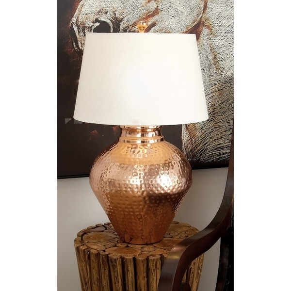 Modern 26 x 16 Inch Gold Iron and Fabric Table Lamp by Studio 350