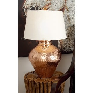 Contemporary Metal Copper 16-inch x 16-inch x 26-inch Table Lamp