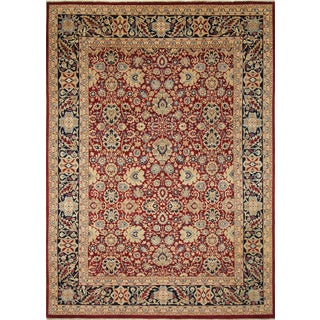 Mahal Synne Red Hand-Knotted Rug (8'11 x 11'11)