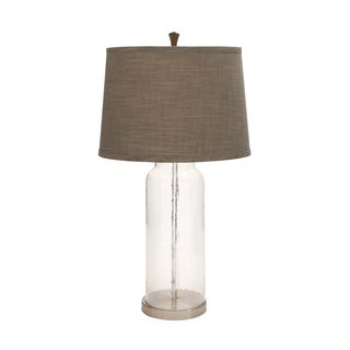 Benzara Glass and Metal Table Lamp