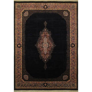 Kirman Ryland Blue Hand-Knotted Rug (9'0 x 12'4)