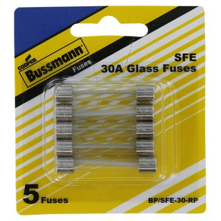 Bussman BP/SFE-30 RP 30 Amp Fuses 5-count