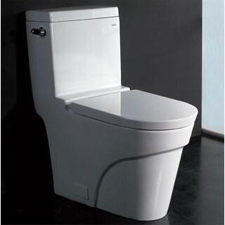 EAGO TB326 White Porcelain 1-Piece Ultra-low-flush Eco-friendly Toilet
