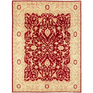 Peshawar Kimberly Red Hand-Knotted Rug (8'10 x 10'4)