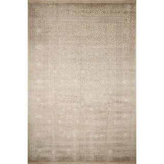 Indo Tabriz Alfie Ivory Hand-Knotted Rug (9'8 x 14'1)