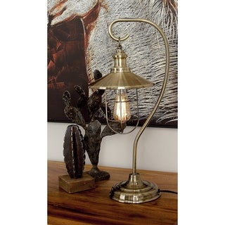 Benzara Contemporary Silver Wood Table Lamp With Bulb